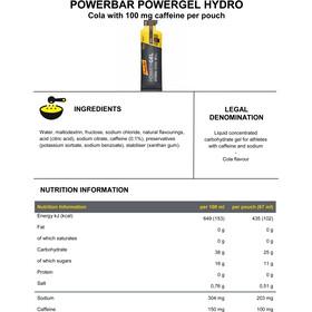 PowerBar PowerGel Hydro Box 24 x 67ml, Cola with Caffeine